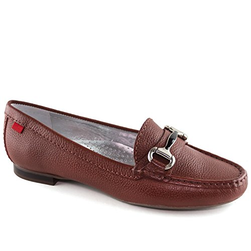 - MARC JOSEPH NEW YORK Women's Genuine Leather Made in Brazil Grand Street Walnut Grainy Buckle Loafer 7.5