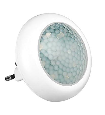 LED luz noche sensor de movimiento para enchufar luz emergencia 8 leds solo 0,9