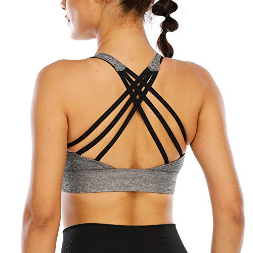 nine bull Sports Bras for Women Womens Longline Wirefree Padded Sports Bra Yoga Bra Crop Top