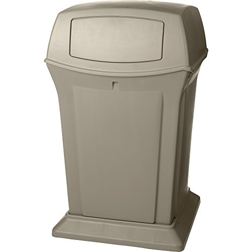 Rubbermaid Commercial Ranger Container with 2 Doors, 45 Gallon Capacity, 24-7/8-Inch Length x 24-7/8-Inch Width x 41-1/2-Inch Height, Beige (FG917188BEIG (Ranger Trash Container)