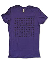 "Juniors Smashing Pumpkins ""Symbols"" Purple Baby Doll T-Shirt"