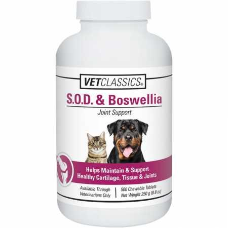 Dogs 500 Tablets - Vet Classics SOD Boswellia Tablets (500 count)