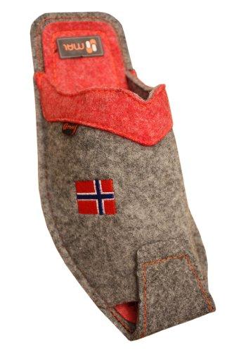 Pantoufles Drapeau Femmes Laine rose Gris Norvegien Spezials Weri XvtSwq