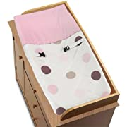 Sweet Jojo Designs Changing Pad Cover - Pink and Brown Modern Polka Dots