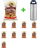 Santitas Triangles Tortilla Chips, 11 oz (10 PCS) + Contigo Autoseal Chill Stainless Steel Hydration Bottle 24oz(Combo Offer)
