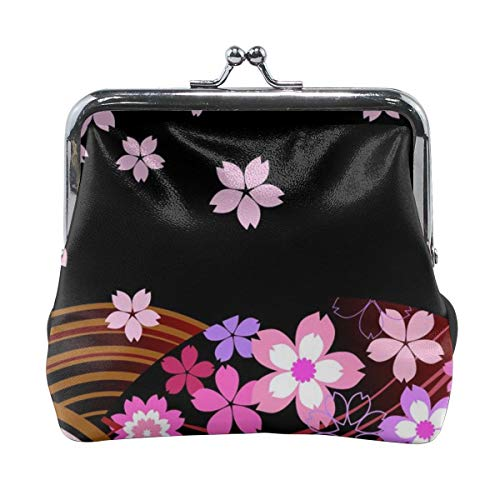 (Retro Japanese Flower Credit Cards Buckle Coin Purse For Women's)
