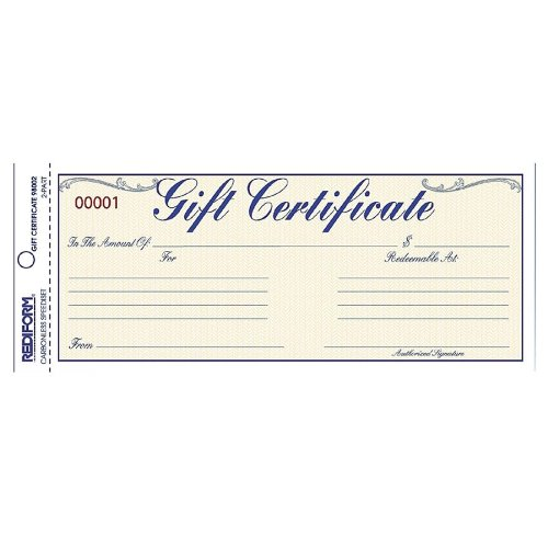 REDIFORM Gift Certificate/Envelope Pack, 25 Duplicates, Gold/Yellow, 3.67 x 8.5'' (98002) by Rediform