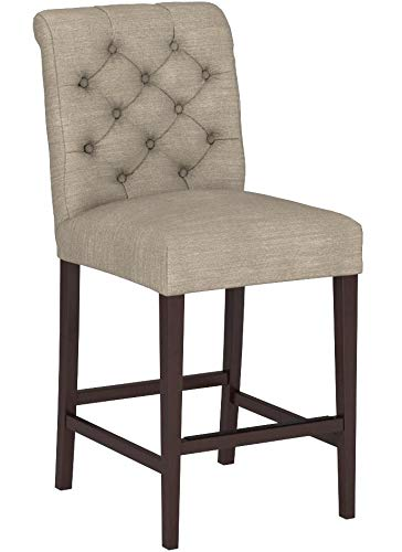 Stone & Beam Carson Tufted Counter Stool, 41″H, Slate - 7