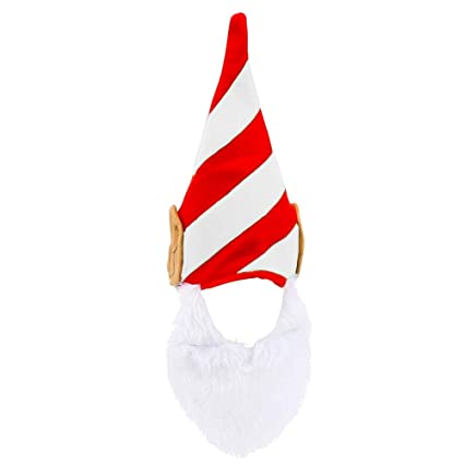 5a301bbf62ed4 Amazon.com  Elf Hat Christmas with Ears and Beard - Funny Costume for  Adults  Toys   Games