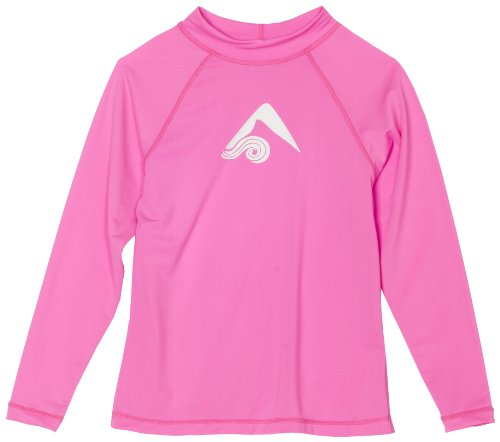 Kanu Surf Big Girls' Keri UPF 50+ Long Sleeve Rashguard, Pink, X-Large (14/16)