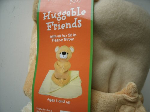 Northpoint Kids Huggable Friends 40-Inch by 50-Inch Fleece Throw Bear UPC# 008953723199