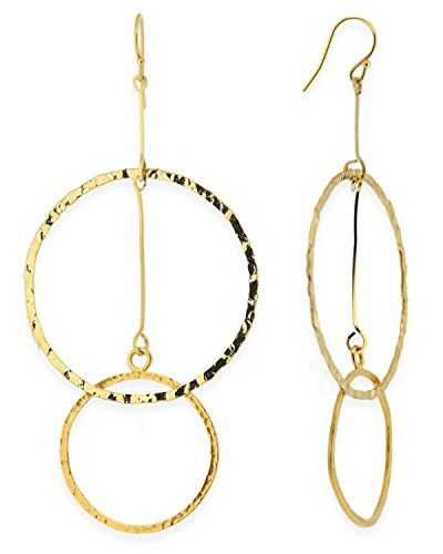 - Double Hammered Circle Earrings