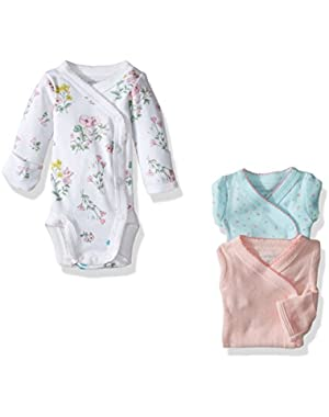Baby Girls' 3 Pack Side Snap Bodysuits (Baby)
