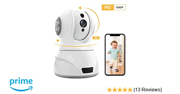 Famisafe Wireless Baby Camera - Baby Monitor Camera 2MP Camera with  Pan/Tilt/Zoom, 2-Way Audio, Motion Detection, Night Vision, Remote Monitor  for