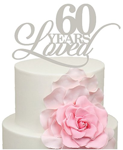 60 Years Loved IN MIRROR SILVER *550* 60th Wedding Anniversary ...