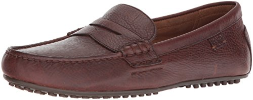 (Polo Ralph Lauren Men's WES Driving Style Loafer, deep Saddle tan, 9 D US)