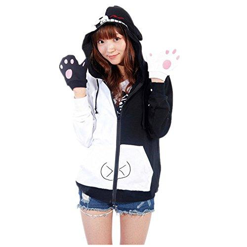 Mister Bear Danganronpa Dangan-Ronpa Mono Kuma Black whiteBear Cosplay Costume Hoodie ()
