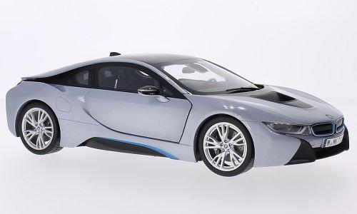 BMW i8, silber, Modellauto, Fertigmodell, Paragon 1 18