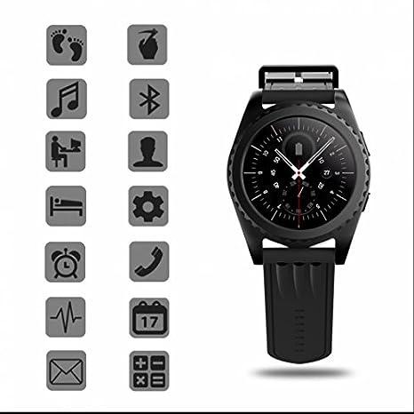 Monitor de ritmo cardíaco reloj inteligente, Smartwatch con MP3 ...