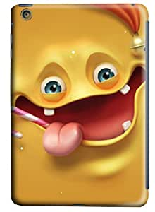 iPad Mini Lightweight Hard Shell PC Case With Special Cute Mask Eidolon Design For The New iPad Mini(Yellow-Naughty Face)