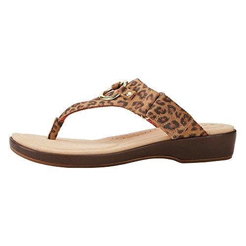 Ariat Vrouwen Poolside Thong Sandaal Cheetah Volnerf Leer