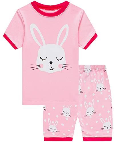 Girls Short Pajamas Easter Rabbit Pjs Toddler Pjs Clothes Kids Sleepwear Summer Shirts Size -