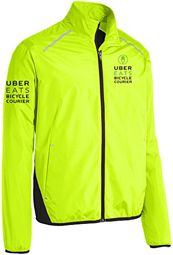 Qraphic Tee Uber Eats Jacket, Bicycle Courier, Food Delivery, Uber Jacket.