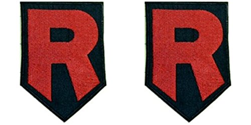 J&C Pokemon Team Rocket Logo 2-Pack Gift Set Embroidered Sew/Iron-on Patch -