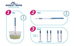 Easy@Home 100 Ovulation (LH) and 20 Pregnancy (HCG) Test Strips Kit, 100 LH + 20 HCG