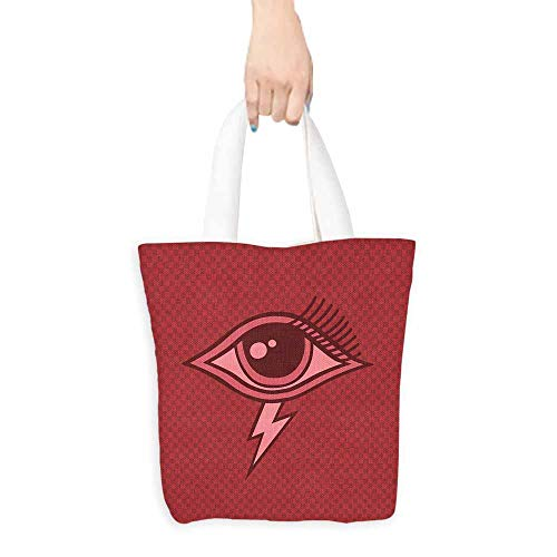 Eye Canvas Tote Graphic Design Inspired by an All Seeing Eye of an Ancient Mythology Character Foldable 16.5