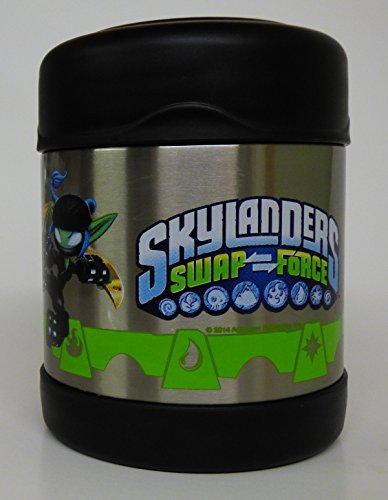 Skylanders Swapforce Thermos Funtainer 10 Oz Food (Technology Black Mega Ram)