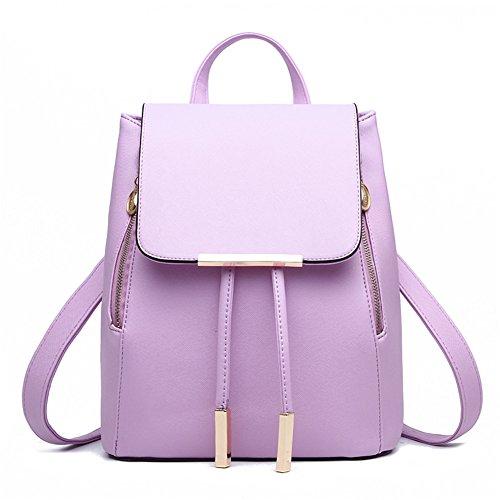 Z chiaro in moda da ragazze scuola per colore e zaino di joyee mini spalla zaino viola casual donne borsa borsa pelle YwxCqYzr