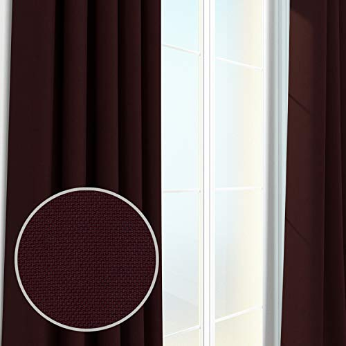 Eggplant Curtains (Alanzo Alarcon Blackout Curtains and Drapes Panel in Carson Canvas (52x84 Grommet with Blackout, EGGPLANT))