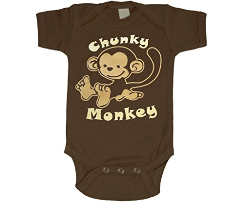 Chunky Monkey Onesie, Fun Baby Clothes, Brown 0-3 MO