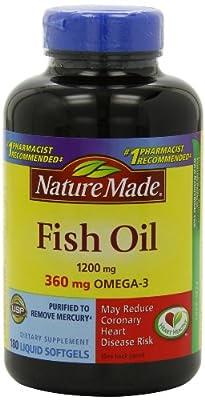 Nature Made Fish Oil Omega-3 1200mg (3, 360 Liquid Soft Gels)
