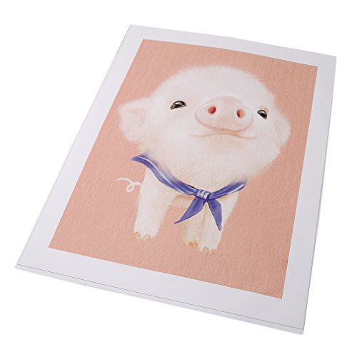 UNKE Art Oil Paintings On Canvas Cute Rabbit Baby Artwork Framed Stretched Ready to Hang for children Room Home Wall Decor,Piggy