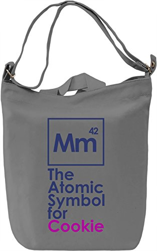 Atomic Symbol for Cookie Borsa Giornaliera Canvas Canvas Day Bag| 100% Premium Cotton Canvas| DTG Printing|
