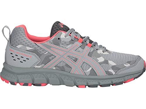 ASICS Women's Gel-Scram 4 Running Shoes, 7M, MID Grey/Stone Grey