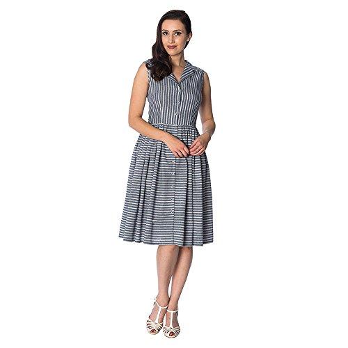 Blau Dress Streifen Brighton Kleid Days Damen Retro Pier Dancing 8HqU1Twx