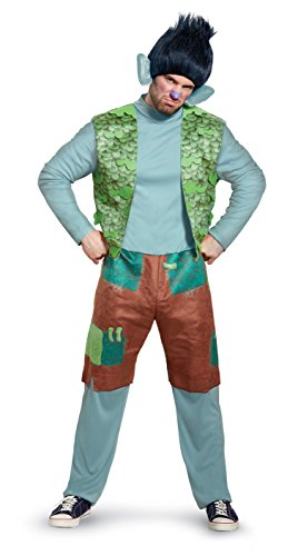 Disguise Men's Branch Deluxe Adult W/Wig Costume, Multi, -