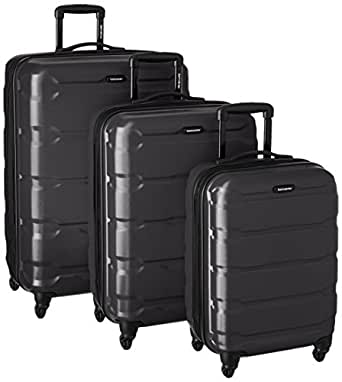 Samsonite 68311-1041 Omni PC Hardside Spinner  20 24 28,  Black,  3 Piece Set