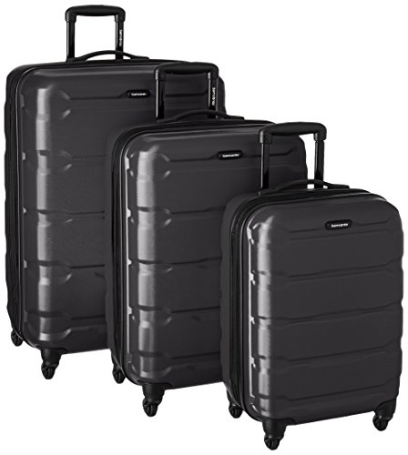 Samsonite Omni PC 3 Piece Set Spinner 20 24 28, Black