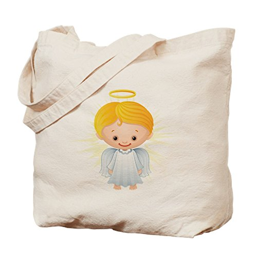 Truly Teague Tote Bag Christmas Cuties Shining Angel of the Lord by Truly Teague