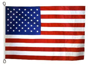 American Flag 8ft x 12ft Valley Forge Koralex II 2-Ply Sewn Polyester by Valley Forge
