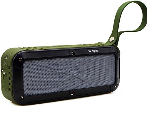 Portable Waterproof Bluetooth Speaker, Outdoor NFC Wireless Speakers for iphone Android phones with Fm Radio Loud Dual Speakers (Android Phone Fm Radio)