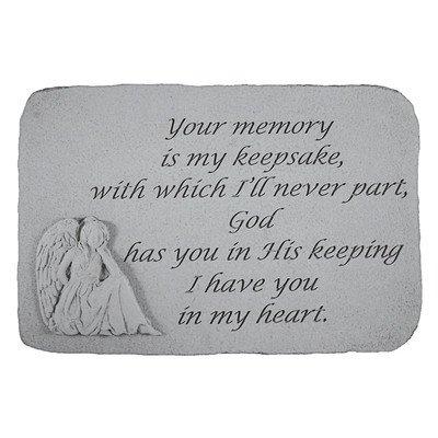 Your Memory is my Keepsake...Angel Memorial Garden Marker Stepping (Angel Memorial Marker)