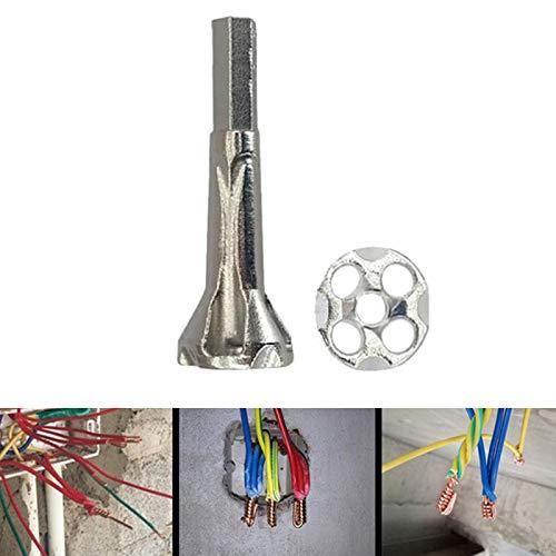 Alftek Universalstecker-legierter Stahl-elektrisches Bohrer-Kabel-Schnelle Arbeitswalze 4-6 Quadrat