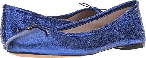 Sam Edelman Women's Felicia Ballet Flat, Royal Blue/Metallic Leather, 7 M US (Leather Ballet Flats Metallic)