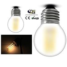 Modern LED Bulbs ONDENN E26/E27 4 W 4 COB 400 LM 2800-3200K K Warm White A Globe Bulbs AC 220-240/AC 110-130 V , 110-120v