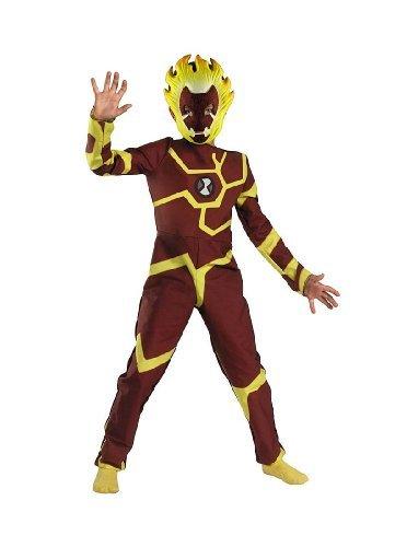 10 Fancy Dress Ben Costumes (Child Ben 10 Ten Heatblast Costume Kid Size S)